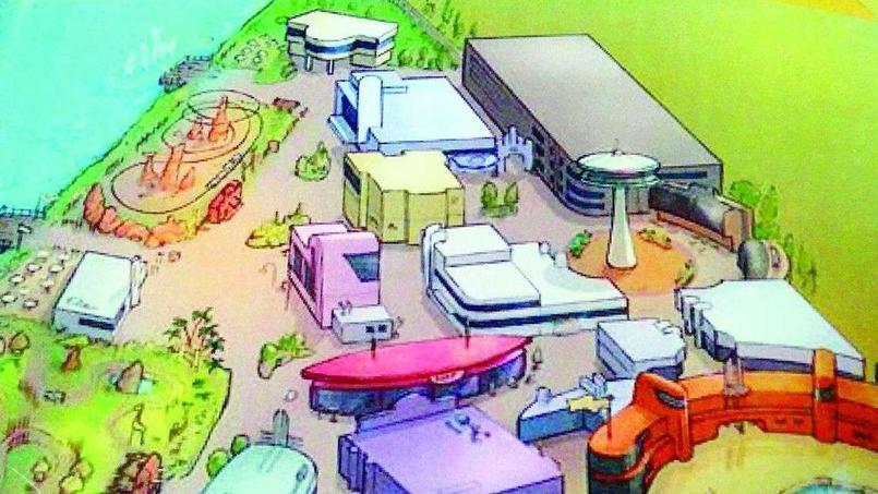 Dix attractions seraient prévues pour le lancement de ce parc d'attractions sur le thème de la bande dessinée, puis près d'une vingtaine à terme.