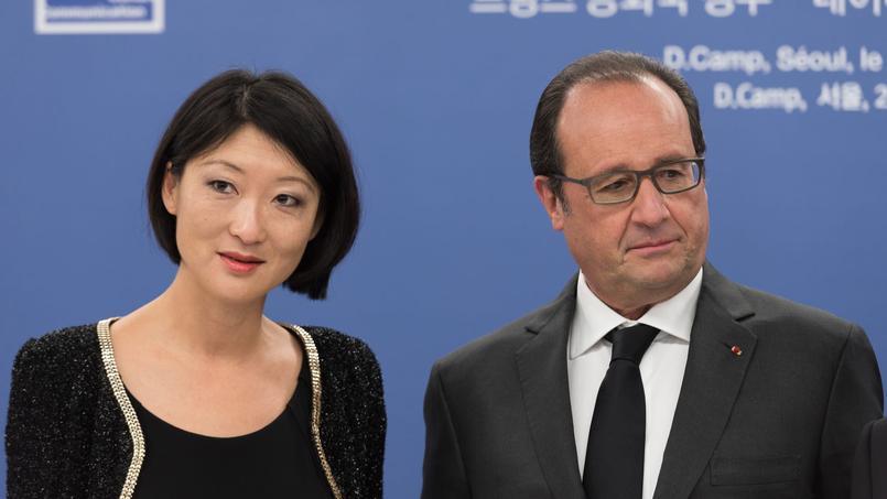 Fleur Pellerin, ancienne ministre de la Culture et François Hollande, président de la République