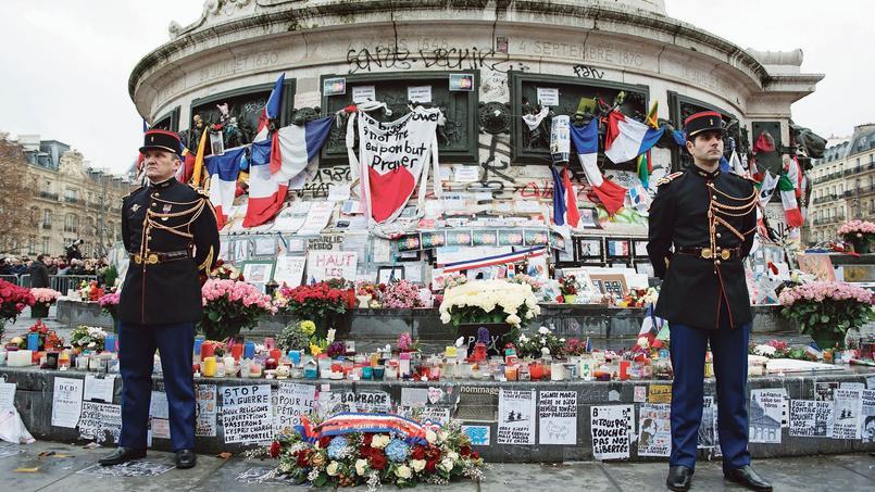 Place de la République, le 10 janvier.