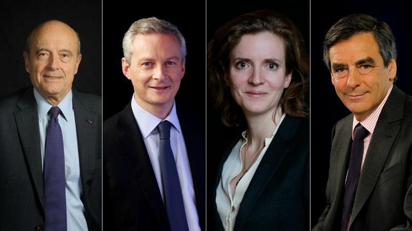 Alain Juppé, Bruno Le Maire, Nathalie Kosciusko-Morizet et François Fillon.