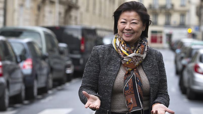 La maire du VIIIe arrondissement de Paris, Jeanne d'Hauteserre (les Républicains)