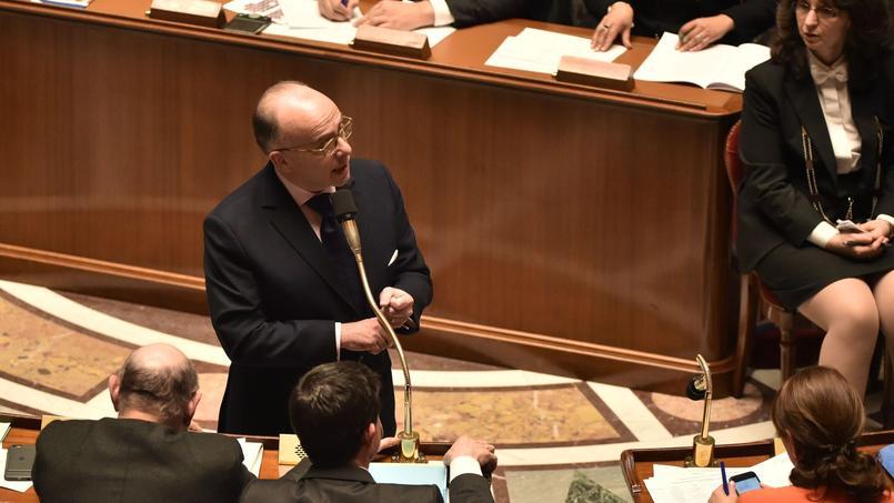 Le ministre de l'Intérieur Bernard Cazeneuve, mardi 16 janvier 2016 à l'Assemblée nationale.
