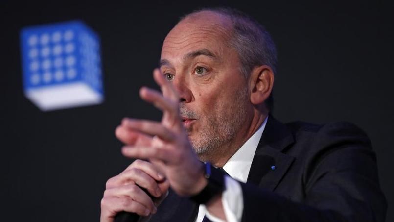 Stéphane Richard, président d'Orange, à l'occasion de l'annonce des résultats financiers en France le 16/02/2016. (REUTERS/Benoit Tessier)