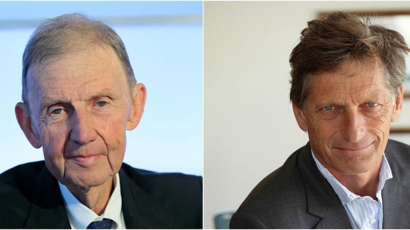 Étienne Mougeotte, directeur général de Radio Classique, et Nicolas de Tavernost, président du directoire du groupe M6.