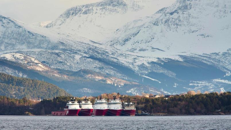 Une installation pétrolière en Norvège.