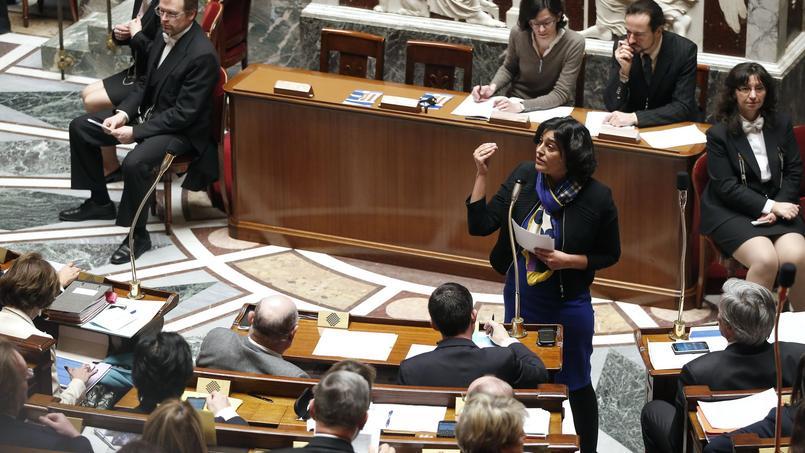 Myriam El Khomri à l'Assemblée nationale, le 17 février 2016.