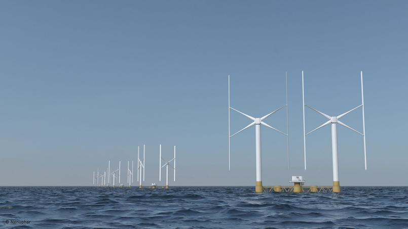 Nenuphar a mis au point la toute première éolienne offshore flottante contrarotative à axe vertical au monde. Crédits photo: Nenuphar