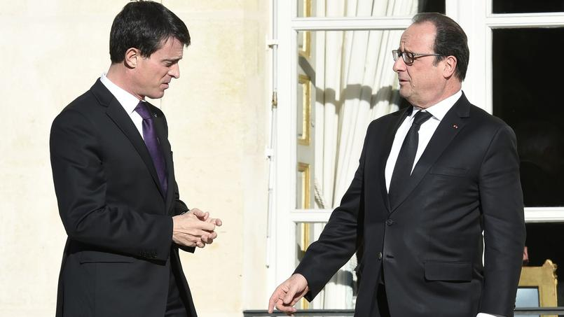 Manuel Valls et François Hollande, en novembre.