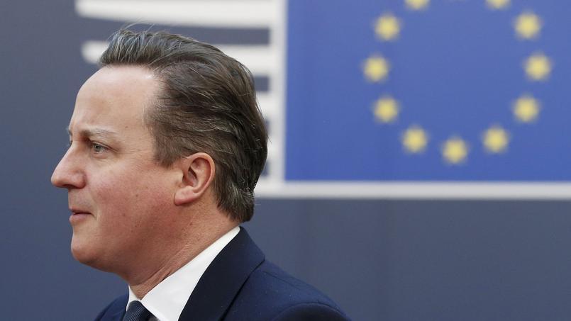 David Cameron lors du sommet européen.