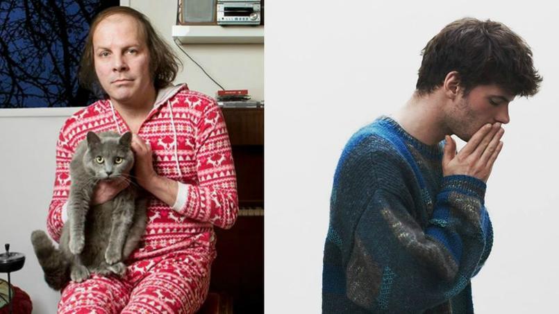 Katerine dans sa grenouillère de Noël et Fakear dans son gros pull.