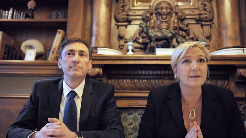 Bernard Monot et Marine Le Pen