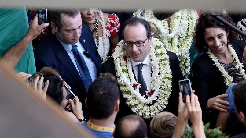 François Hollande à Papeete, la capitale de la Polynésie française.