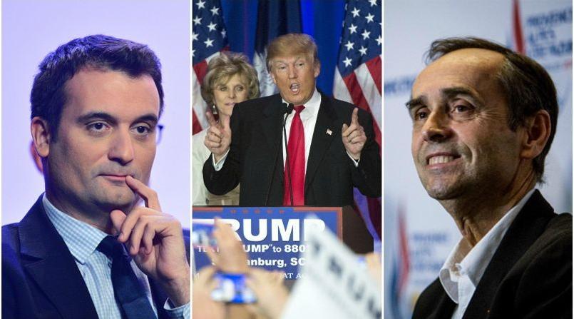 Florian Philippot, Donald Trump et Robert Ménard
