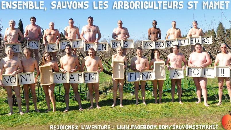 Les salariés de St Mamet et son PDG posent nus pour sauver leur emploi. Crédits photo: DR.