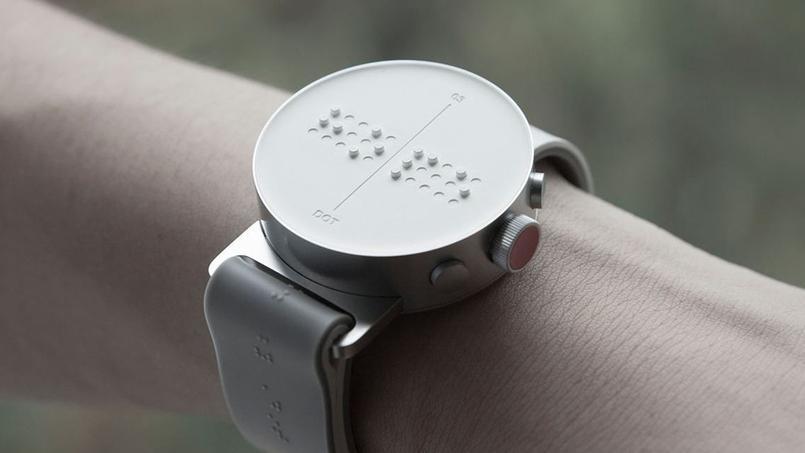La Dot, montre connectée dédiée aux aveugles. Source: dotincorp.com