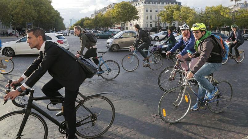 Le montant de l'indemnité kilométrique vélo a été fixé à 25 centimes d'euro par kilomètre. Crédits Photo: Jacques Demarthon / AFP