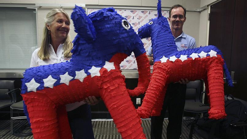 L'âne et l'éléphant, symboles des plus grands partis américains.