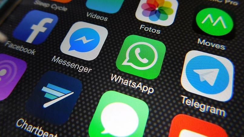 Les trois applications de messagerie côte à côte dans un smartphone. Source: Flikr