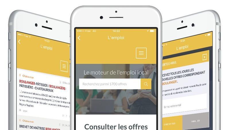 L'application Fabville vient d'être lancée à Châteauroux avec un module «emploi». Crédits photo: Meetphone