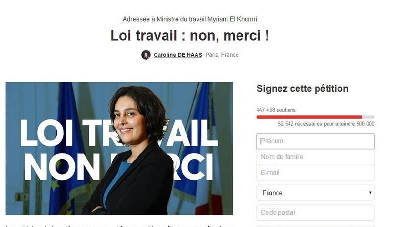 Mercredi, la pétition lancée par Caroline De Haas comptait près de 500 000 signatures.