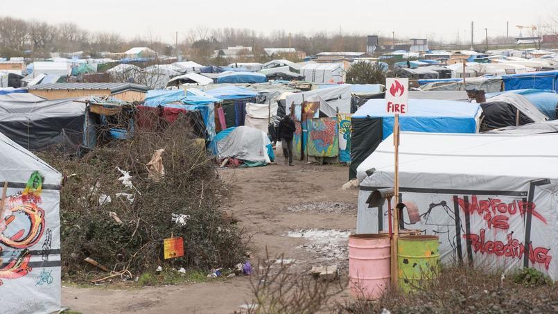 Une partie de la «jungle» de Calais.