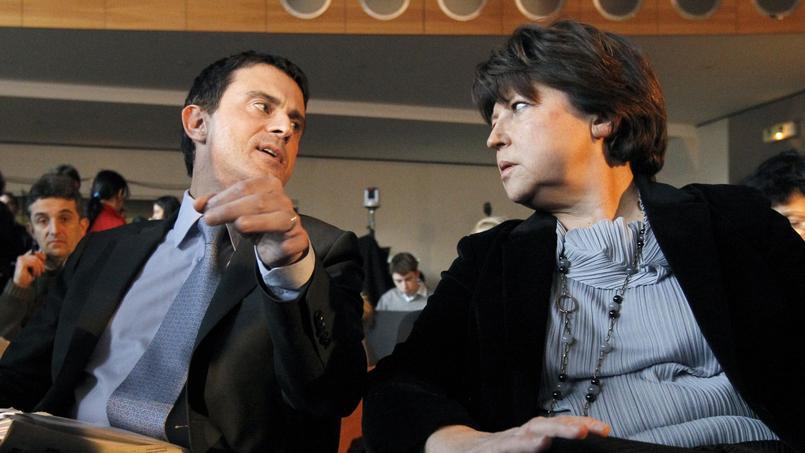 Martine Aubry et Manuel valls, en 2011.