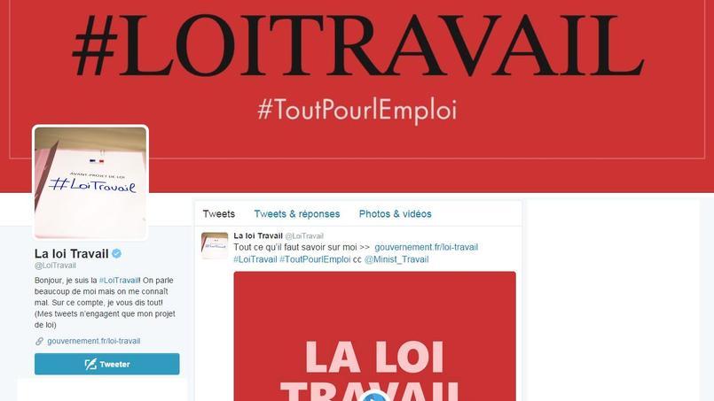 Le gouvernement crée un compte Twitter pour défendre la #LoiTravail