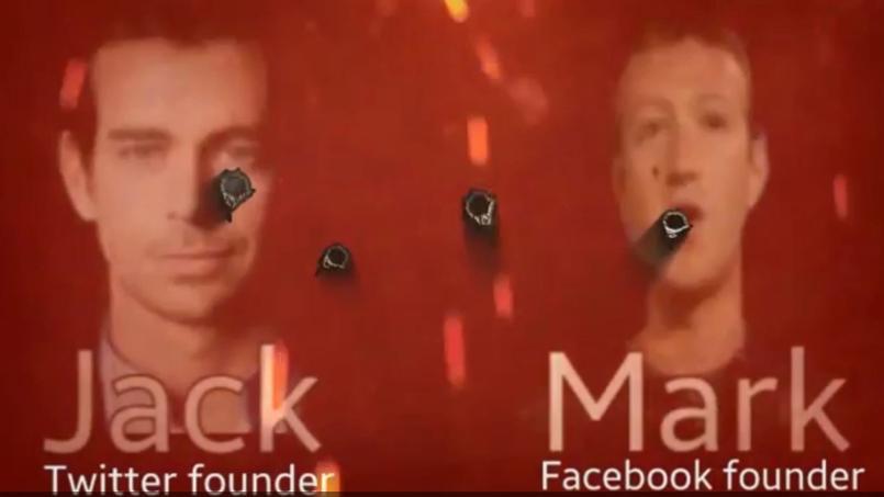Jack Dorsey et Mark Zuckerberg menacés par Daesh. © Capture d'écran