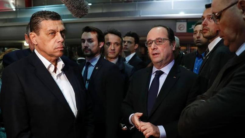 François Hollande et Xavier Beulin, président de la FNSEA, au Salon de l'agriculture.