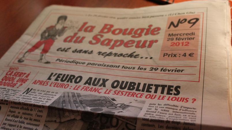 Publié chaque 29 février, donc un an sur quatre, depuis 1980, La Bougie du Sapeur est un journal français qui revient de façon satirique sur quatre ans d'actualité.