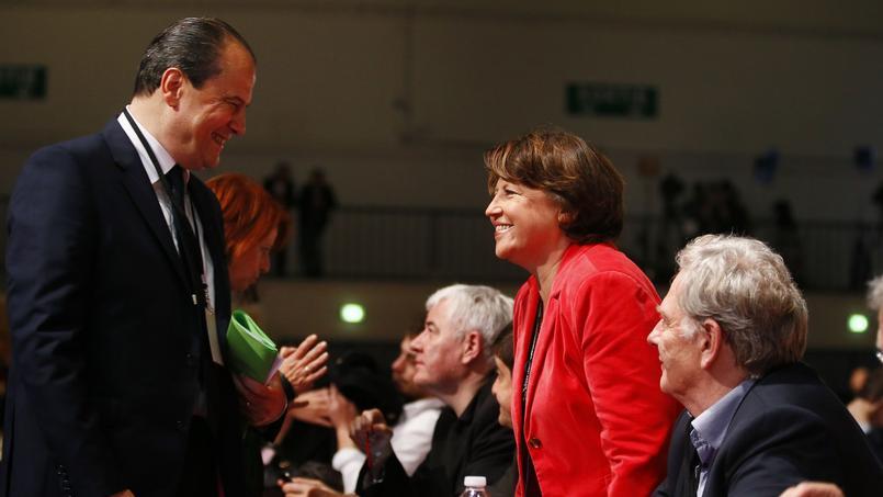 Jean-Christophe Cambadélis, premier secrétaire du PS et Martine Aubry, maire de Lille