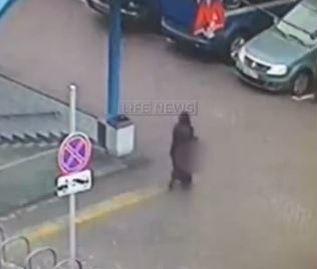 Près d'une station de métro de Moscou. (Capture écran/LifeNews.)