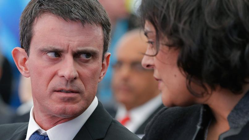 Manuel Valls et Myriam El Khomri, ministre du Travail.