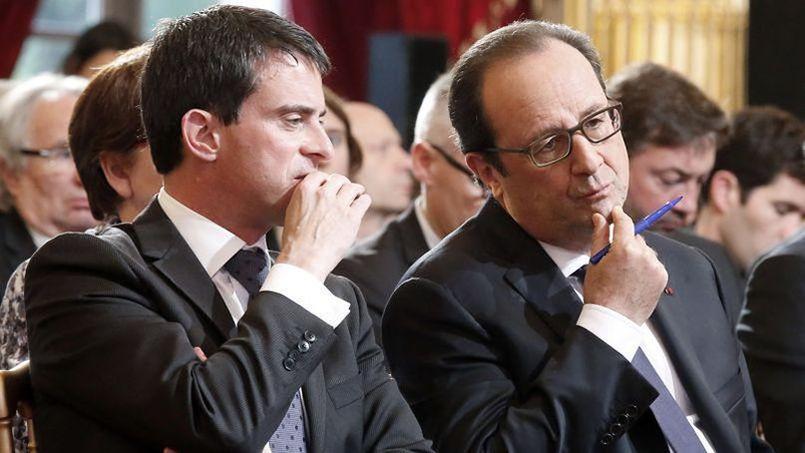 Manuel Valls et François Hollande touchent le fond dans les sondages