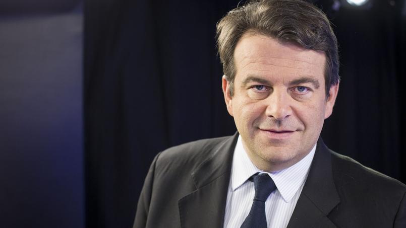 Thierry Solère dans le studio du Figaro, le 25 janvier 2016.