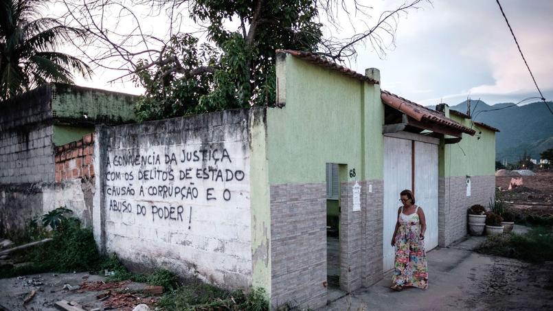 La maison de Marcia Lemos, qui devrait être démolie.