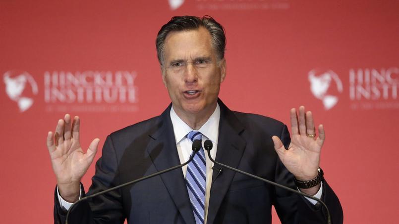Le républicain Mitt Romney jeudi à Salt Lake City, dans l'Utah.