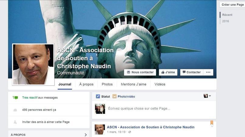 Page de soutien de Christophe Naudin sur Facebook.