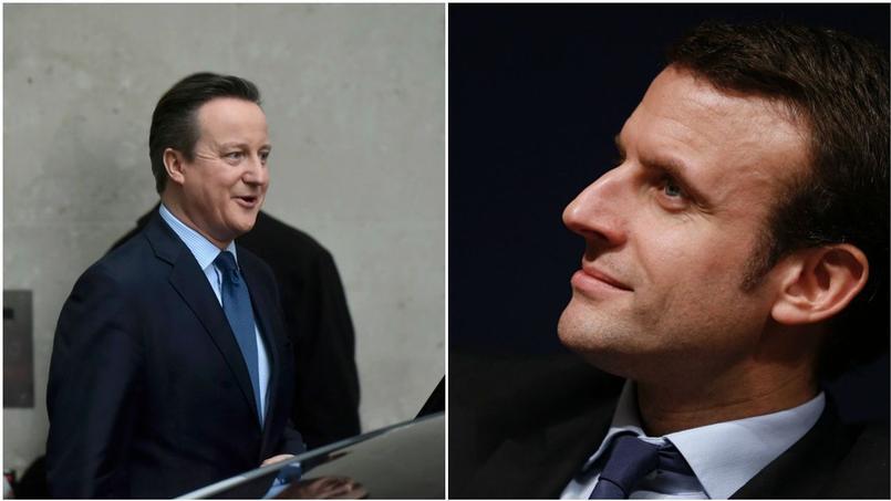 David Cameron et Emmanuel Macron