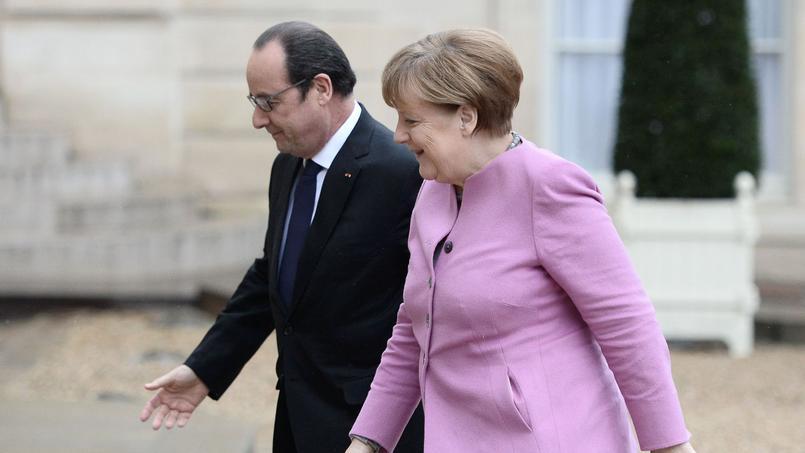 François Hollande a reçu Angela Merkel à l'Élysée, vendredi.