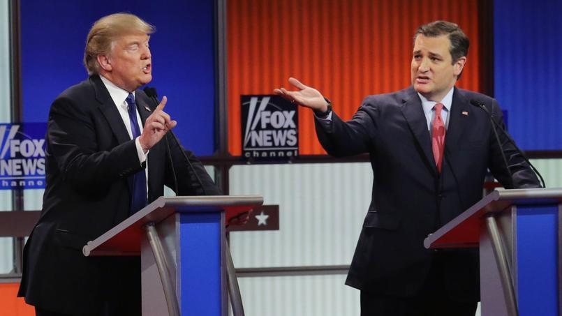 Lors du débat télévisé, les attaques contre Donald Trump ont redoublé, provenant essentiellement des sénateurs Marco Rubio et Ted Cruz (ici à droite).