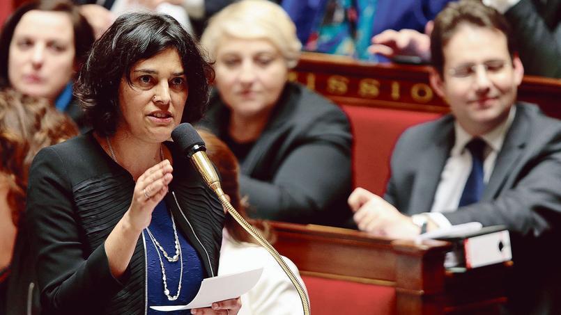 Myriam El Khomri, ministre du Travail, à l'Assemblée nationale.