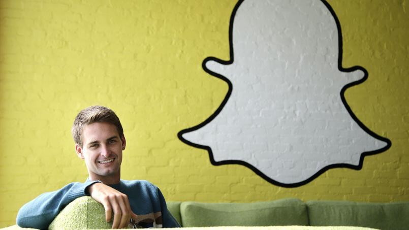 Evan Spiegel, PDG de Snapchat, le 24 octobre 2013 dans les locaux du groupe à Los Angeles.