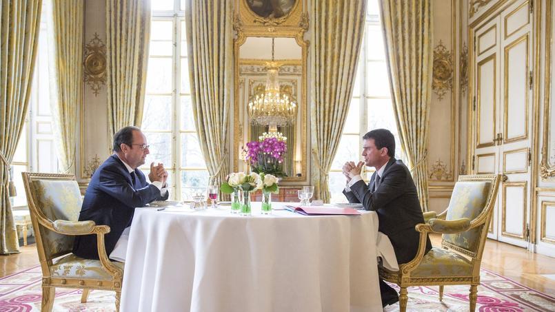 François Hollande et Manuel Valls, à l'Elysée.