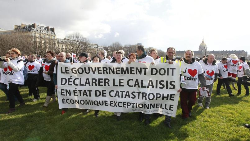 Plus de 500 Calaisiens «asphyxiés par la pression migratoire» ont manifesté , lundi à Paris.