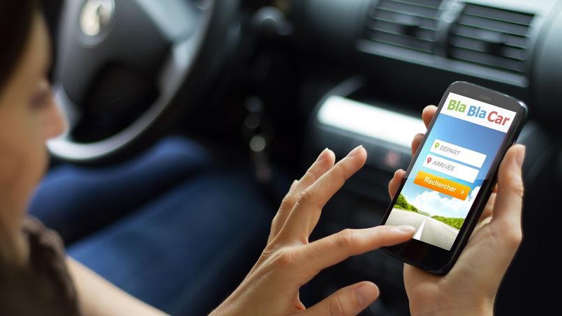 Plusieurs applications, comme celle du site de covoiturage BlaBlaCar, permettent d'éviter les perturbations des transports publics (Crédit: BlaBlaCar).