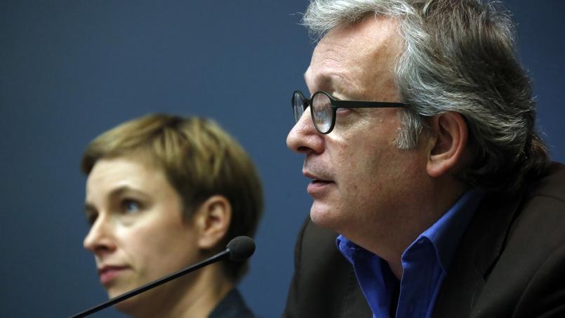 Clémentine Autain, porte-parole d'Ensemble, et Pierre Laurentn, secrétaire national du PCF.