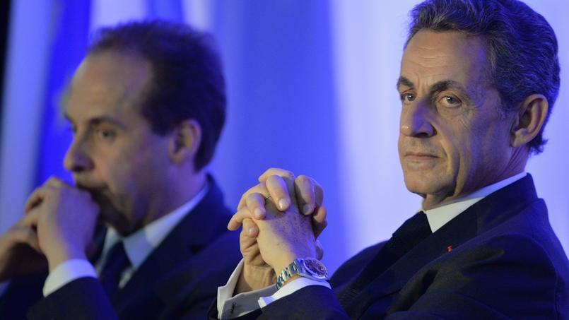 Jean-Christophe Lagarde et Nicolas Sarkozy.