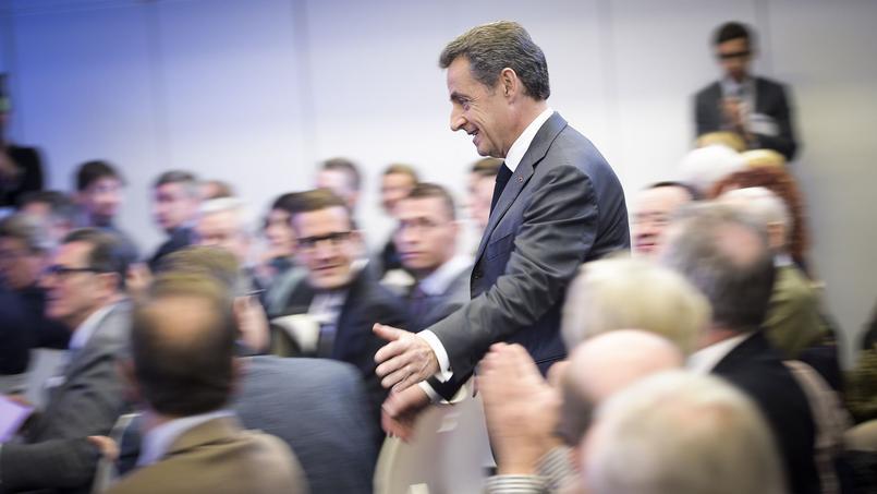 Nicolas Sarkozy lors d'une journée de travail des Républicains, mercredi, au siège du parti, à Paris.