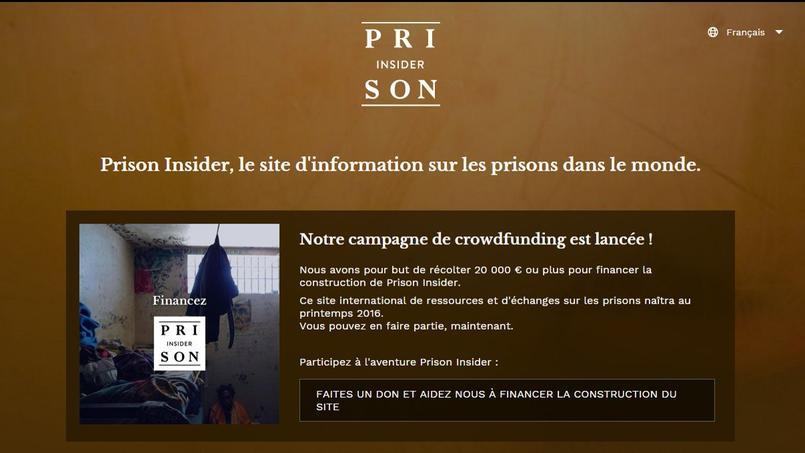 Prison Insider entend informer les personnes sur l'état des prisons. Capture d'écran du site.